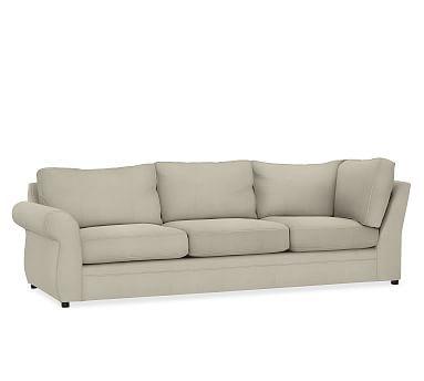 Pearce Roll Arm Upholstered Left Return Sofa Down Blend