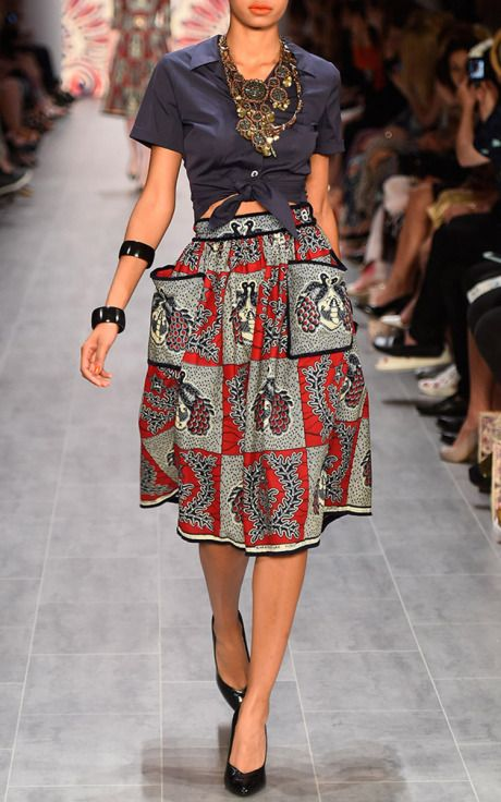 Lena Hoschek Spring/Summer 2015 Trunkshow Look 52 on Moda Operandi Latest African Fashion, African Prints, African fashion styles, African clothing, Nigerian style, Ghanaian fashion, African women dresses, African Bags, African shoes, Nigerian fashion, Ankara, Aso okè, Kenté, brocade etc ~DK
