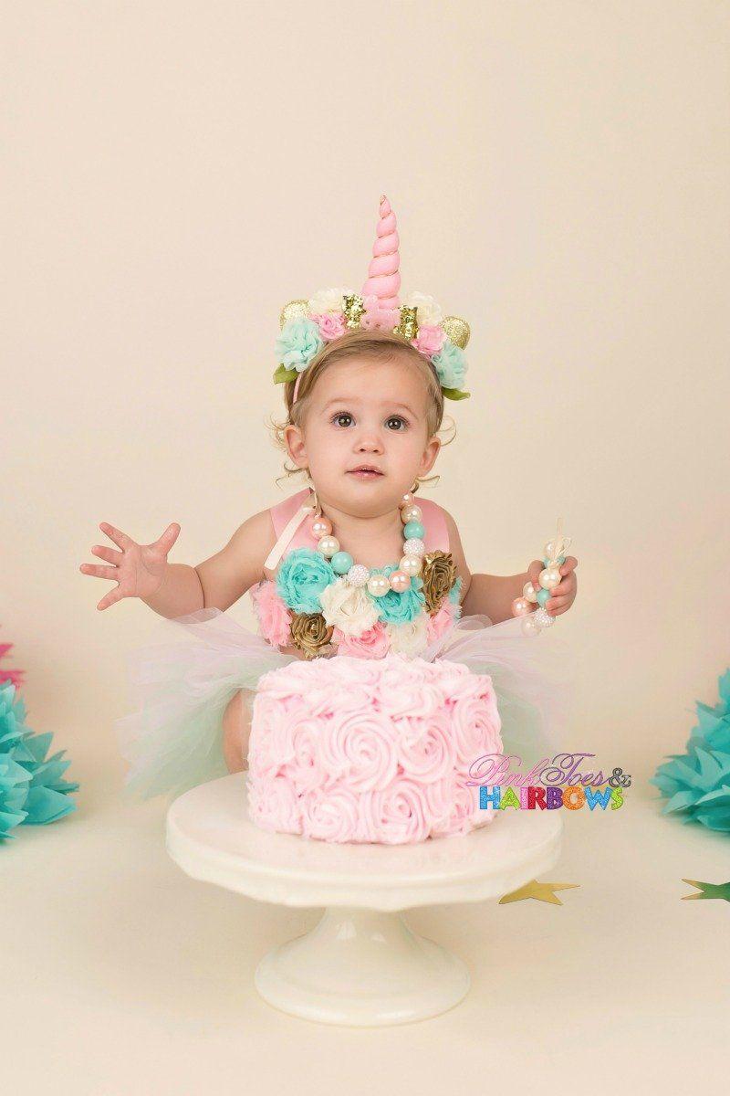 17ffdc875c2f9 Unicorn Cake Smash Set in 2019 | Unicorn Fashion | Cake, Cake smash ...