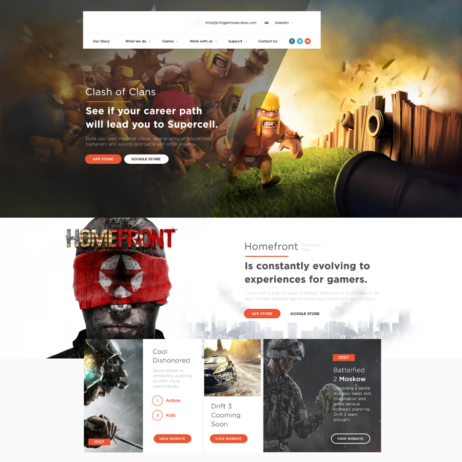Free Game Website Template from i.pinimg.com