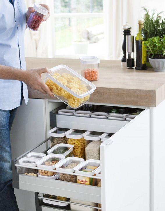 Küchen Aufbewahrungsbehälter optimale lagerung in den küchenschränken emsa optima