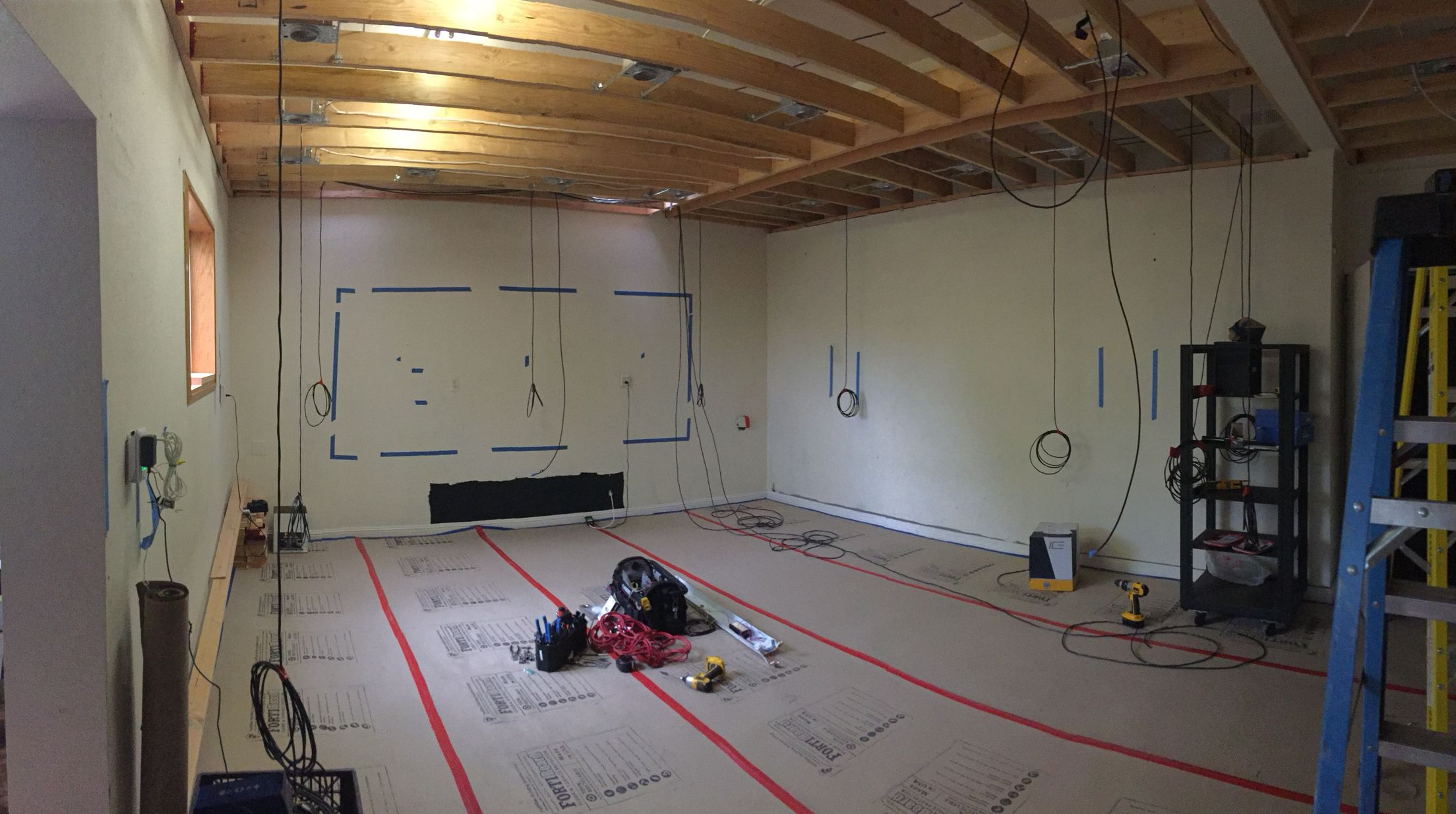 Hanging The Dolby Atmos Speaker Wires131 Channels Home Theater Wiring Design