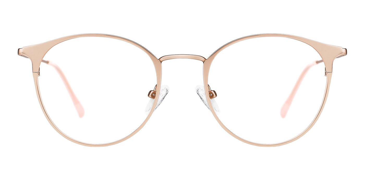 Picture Of Sara Rx Glasses Rose Gold Color Eyeglasses