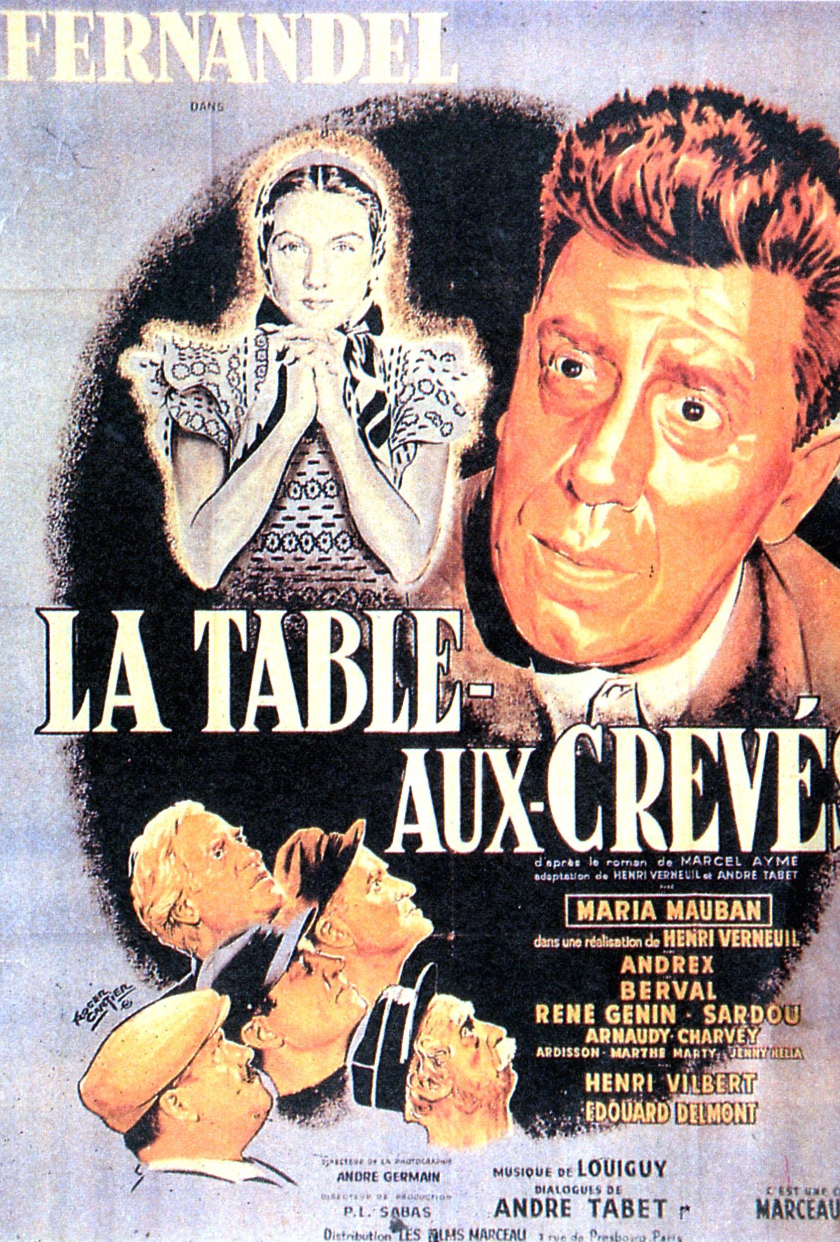 La Table Aux Creves 1951 Affiche De Film Affiche Cinema Affiche Film