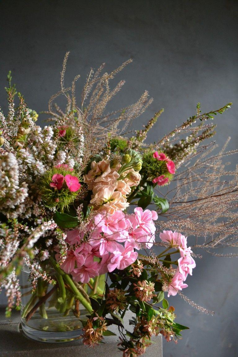 Fairy Floss Vase Arrangement In 2020 Flower Farm Seasonal Flowers Vase Arrangements