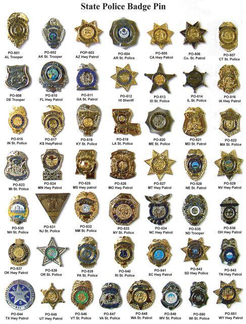 State Police Badge Pins Police Badge Police Code Police