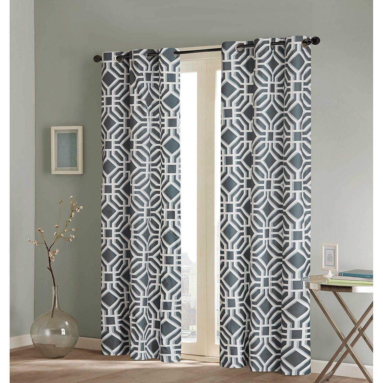 stunning pattern curtain trellis treatments window curtains