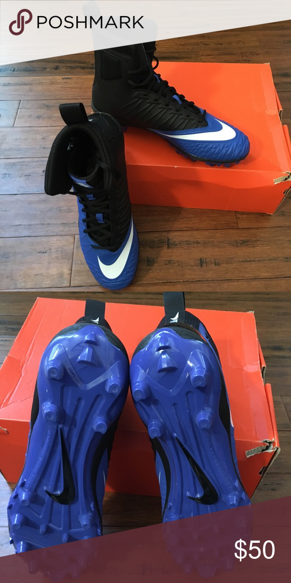 online store 10d2e e3611 Nike Force Savage Varsity Football Cleats Brand New! Nike Force Savage  Varsity Football Cleats Game Royal Blue/ White /Black Nike Shoes Athletic  Shoes