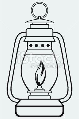 Camp Lantern Lantern Drawing Black Lamps Clip Art