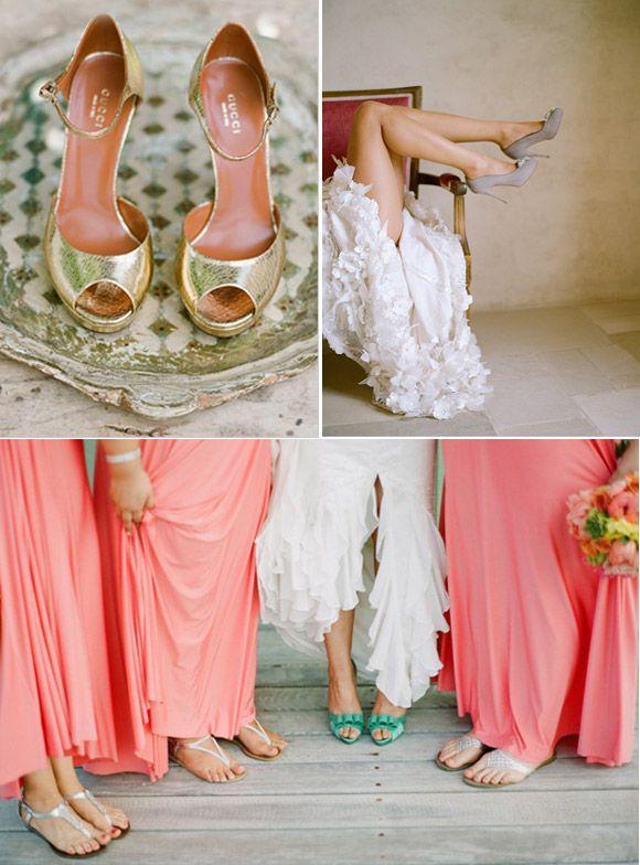 zapatos de color para novias atrevidas | zapatos de novia