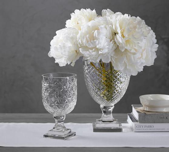 Monique Lhuillier Ava Clear Cut Glass Vase For The Home