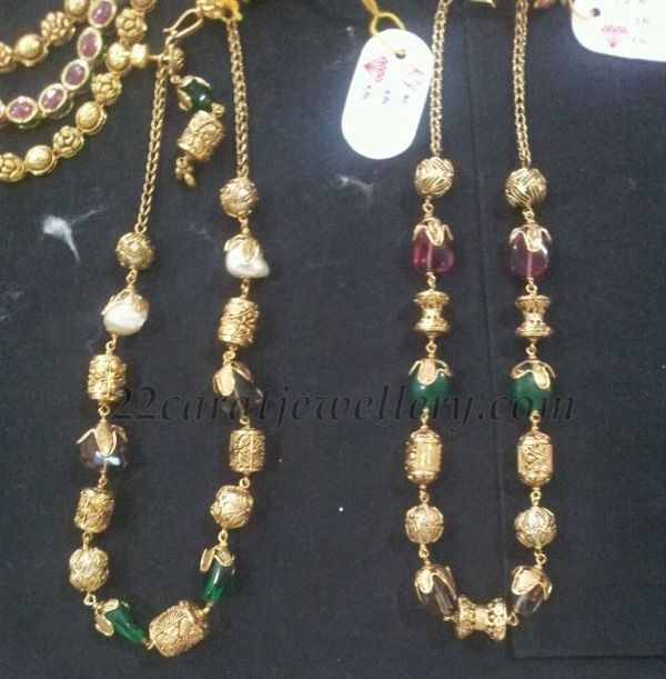 Simple gold beads strings beads gold and indian jewelry for Simple gold ornaments