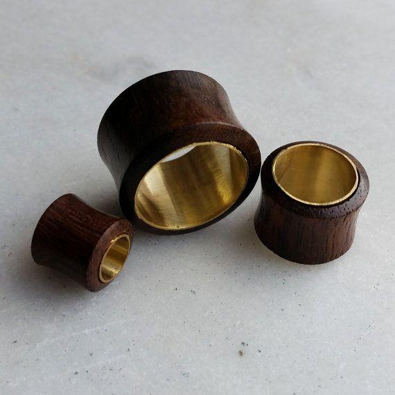 1 Paire Ecarteur Oreille Cœur Pierre Naturelle Ear Plug Flesh Tunnel Piercing