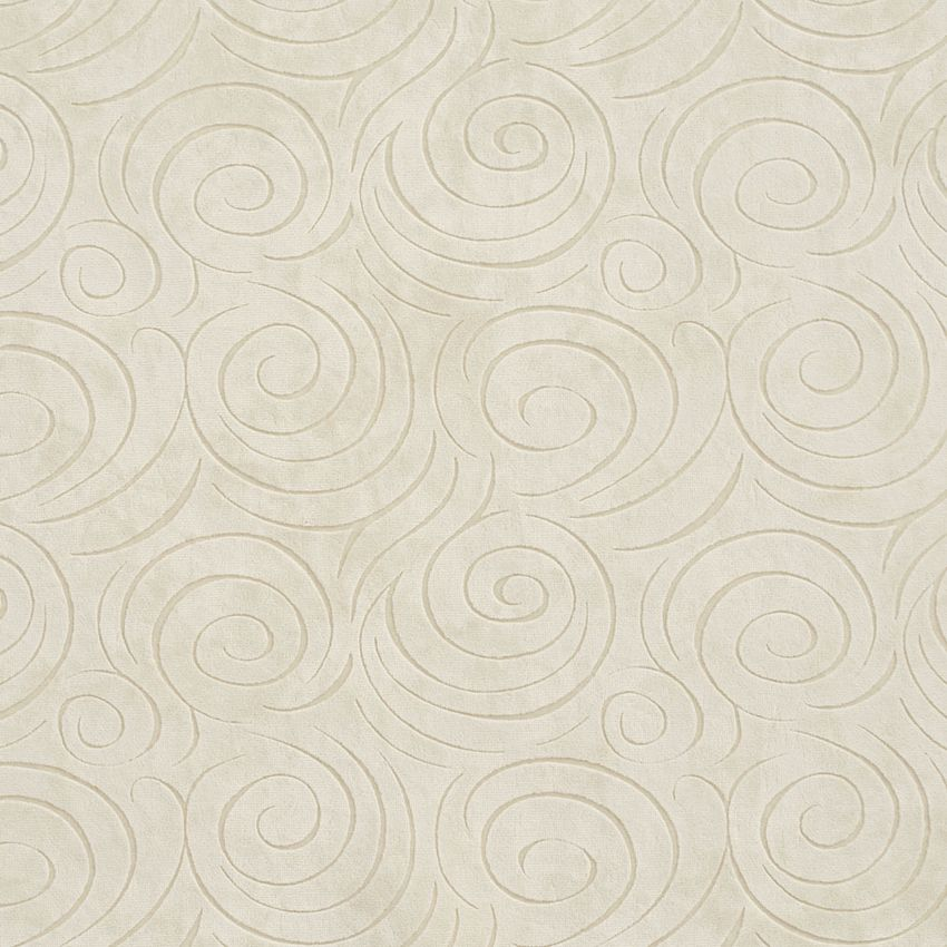 Natural Swirl White Microfiber Drapery And Upholstery Fabric