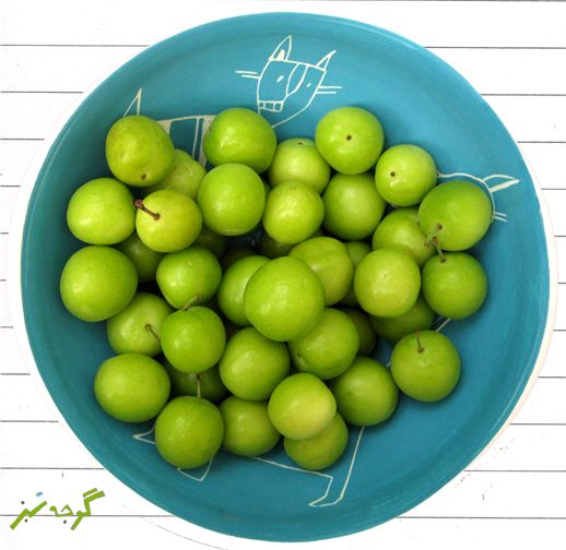 Green unripe plums (gojeh sabz) __ @FigandQuince (Persian Cooking & Culture)