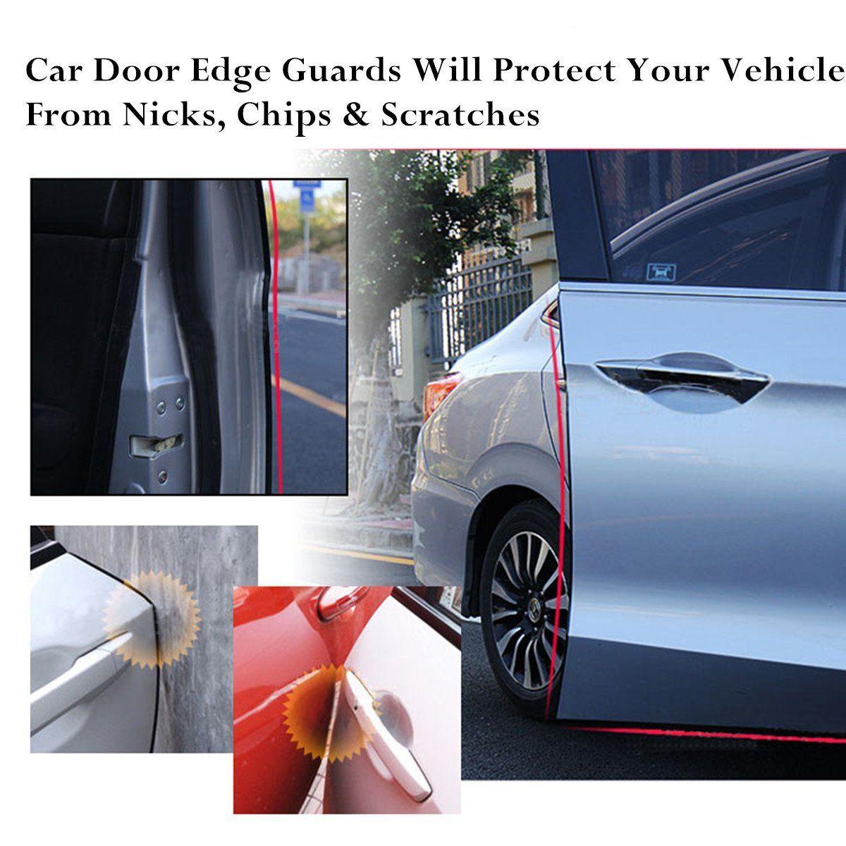 Door Edge Guard Protected Lining Trim Molding Fits Most Cars Car Door Edge Guards Trim Rubber Seal Protector Guard Strip Car Protection Car Door Edge Guard Car