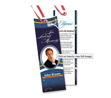 Memorial Bookmark Templates Free Downloads Bookmark