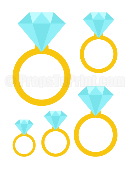 Printable diamond ring photo booth prop. Create DIY props with our ...