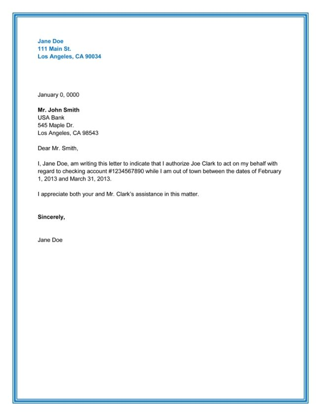example authorization letter the best sample authority format - rental agreement letter template