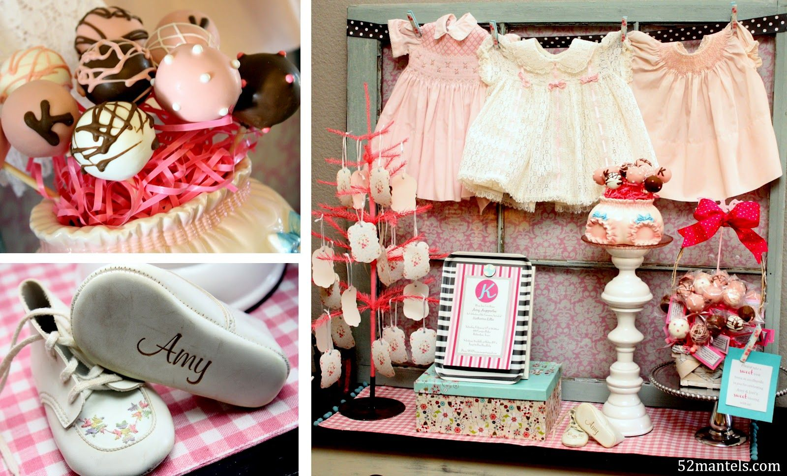 52 mantels a sweet girly baby shower mantel cute as a. Black Bedroom Furniture Sets. Home Design Ideas