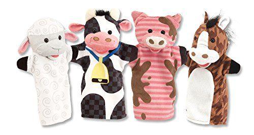 Melissa & Doug Farm Friends Hand Puppets (Set of 4) - Cow... https://www.amazon.com/dp/B00JBIY0MG/ref=cm_sw_r_pi_dp_x_ZAGyybV0X1J6J