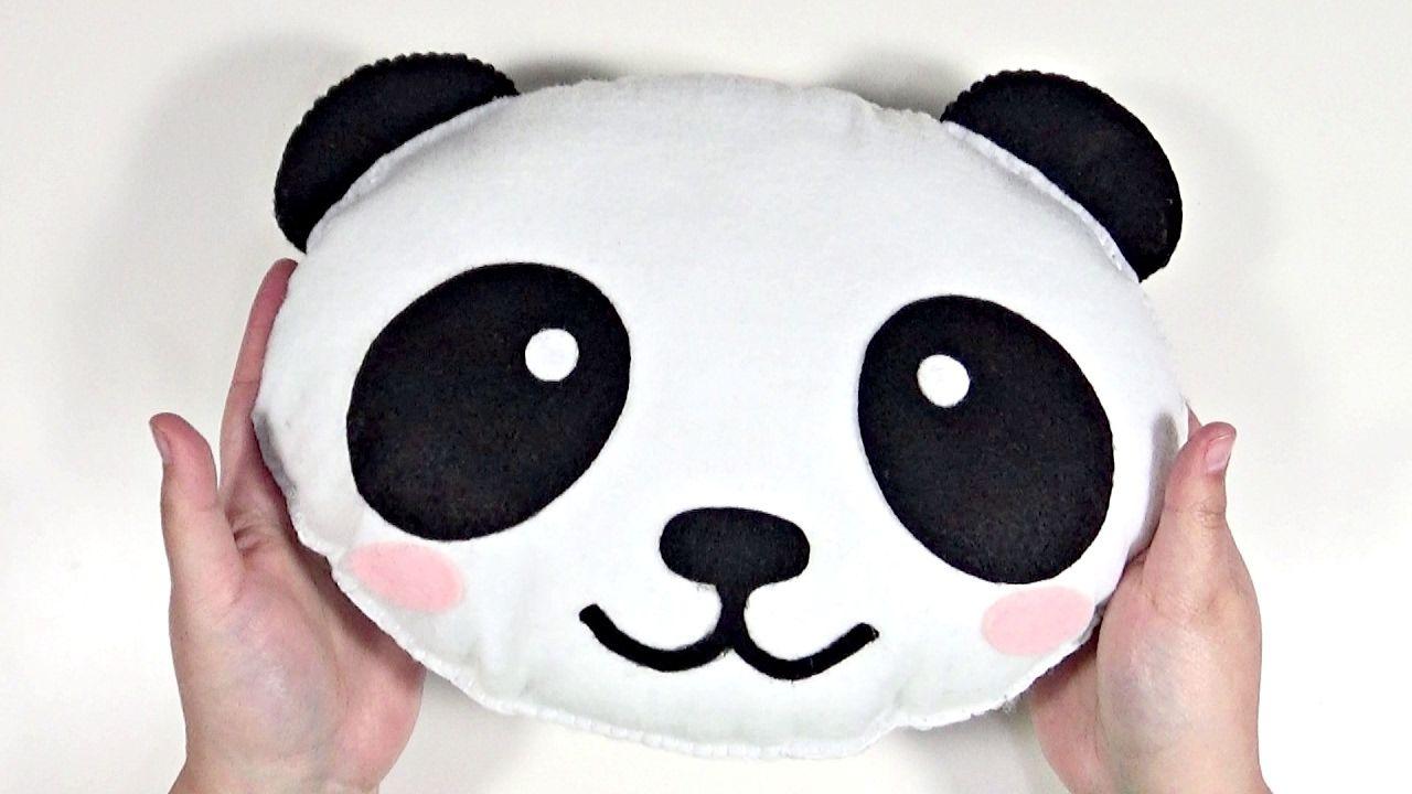 DIY Kawaii Peluche Cojín de Panda con fieltro FÁCIL | costura ...