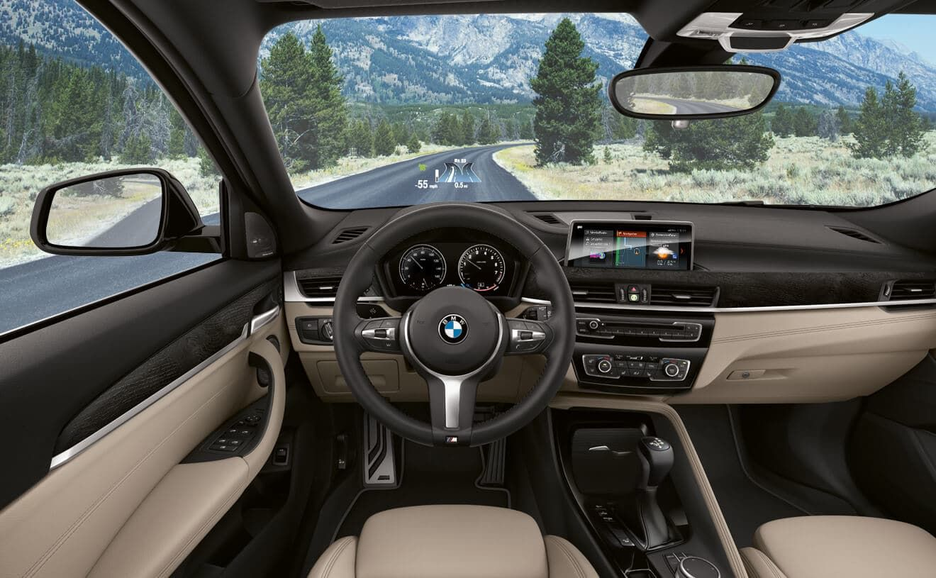 Oyster Dakota Leather Interior And M Steering Wheel In The Bmw X2