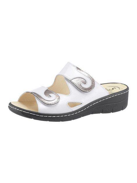 Pantolette Mit 5 Zonen Fussbett Leder Bequeme Schuhe Und Wolle Kaufen