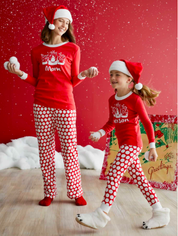 Personalized Snow What Fun Mataching Family Holiday Pjs  860508a79