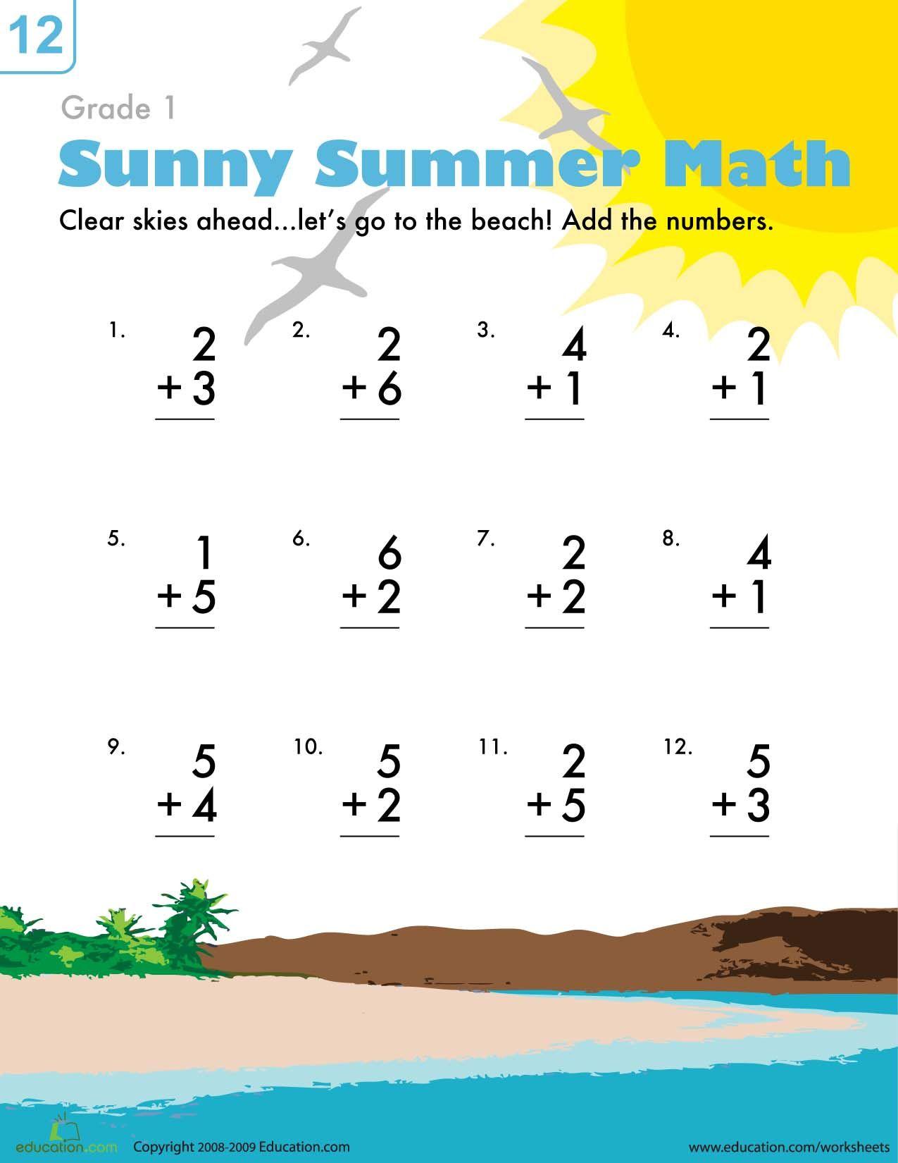 Idea By Jc Castilla On First Grade Math Sheets