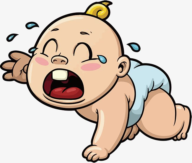 Cartoon Cries Of Baby In Crawling Cartoon Vector Baby Vector Baby Clipart Png And Vector With Transparent Background For Free Download Baby Cartoon Baby Crying Baby Clips