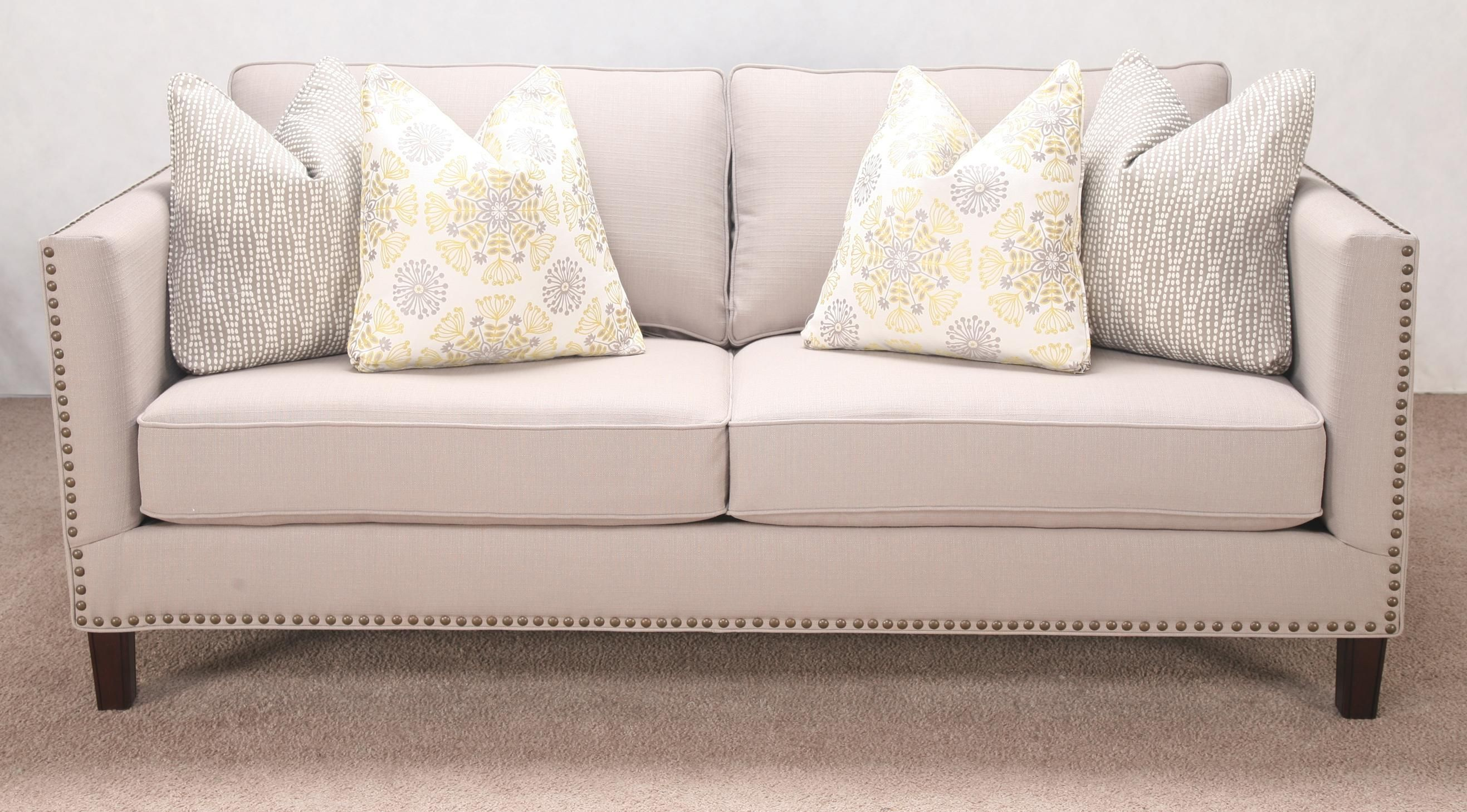 Nail Head Trim Sofa Flexsteel Living Room Fabric Sofa With