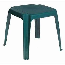 Adams Mfg Corp Amesbury 16 In X Green Resin Rectangle Patio