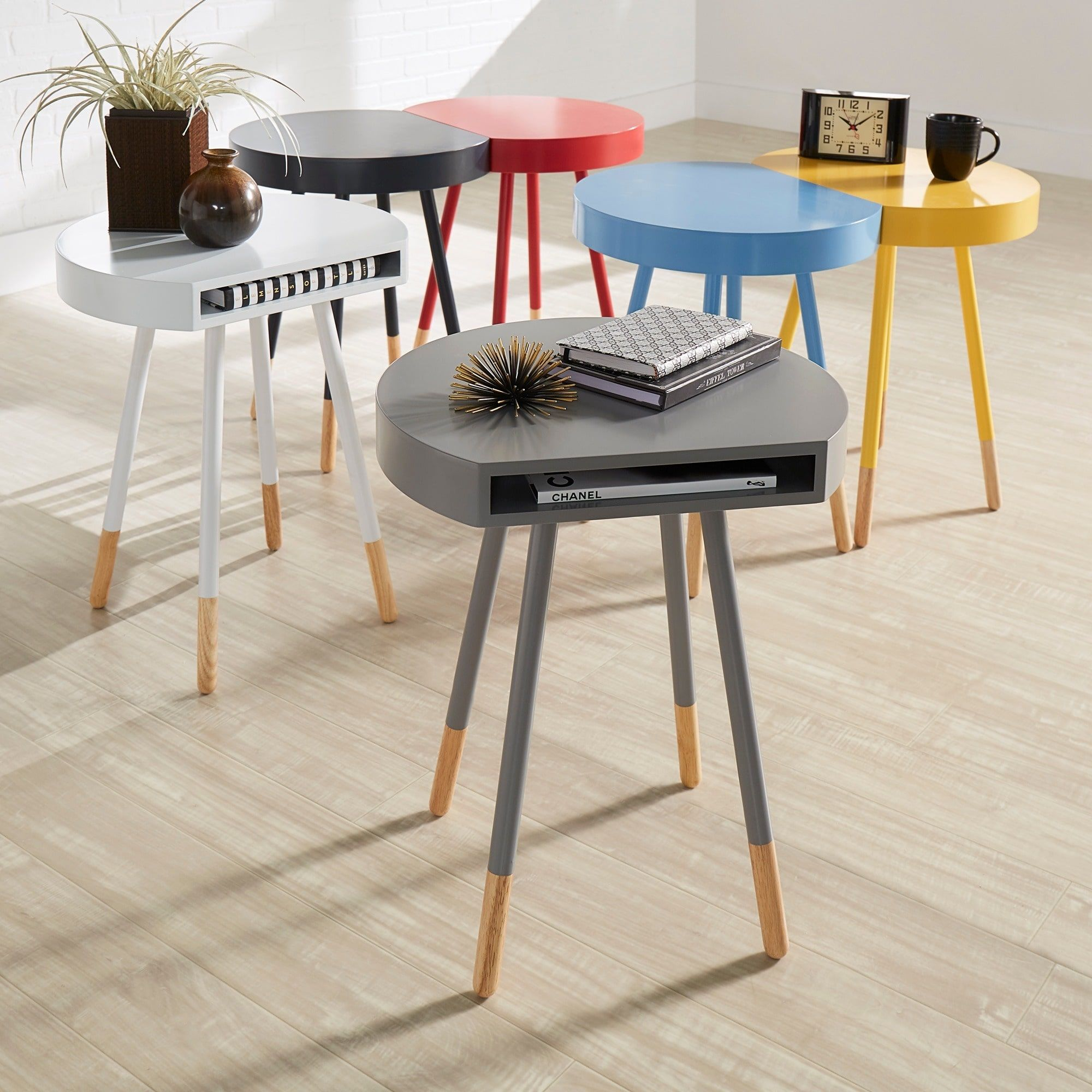 Marcella Paint-dipped Round End Table iNSPIRE Q Modern by iNSPIRE Q