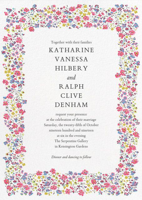 Paperless Post Phoebe Invitation by Liberty Wedding