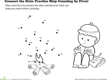 Connect the Dots: Practice Skip Counting by Fives