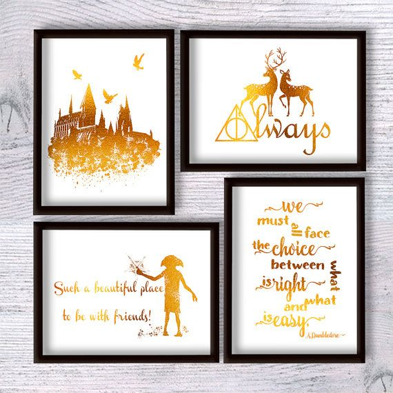 Harry Potter Print Harry Potter Poster Harry Potter Set Of 4 Harry Potter Poster Baby Harry Potter Harry Potter Selber Machen