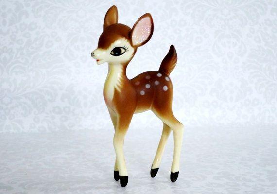 Mid Century Deer Reindeer Figurine Vintage by SwirlingOrange11