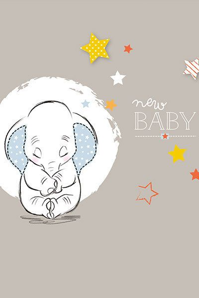 Dumbo New Baby Wall Print | Little Miss Adelaide | Baby, New baby ...