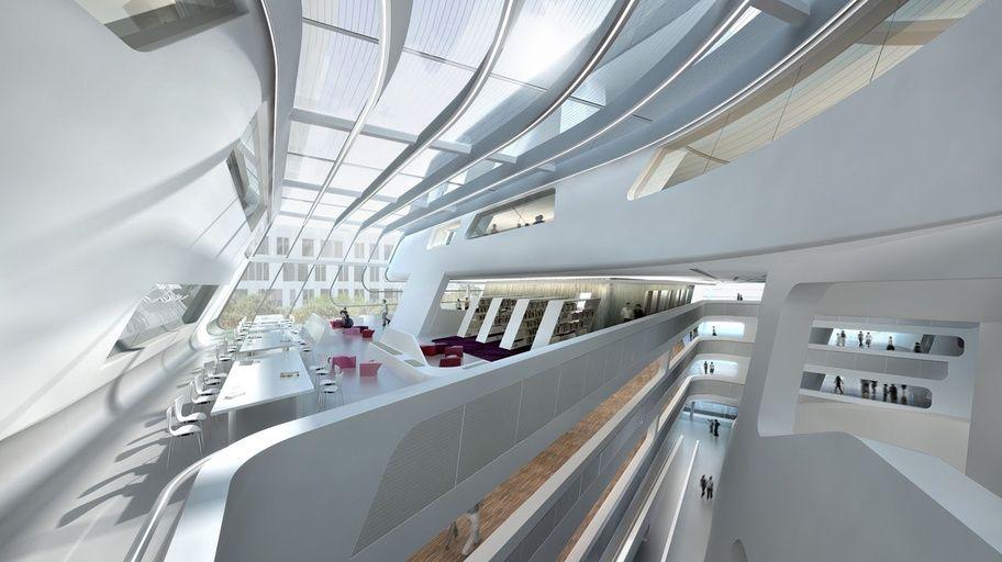 Wu wien zaha hadid wu campus vienna pinterest for Innenraumdesign studieren