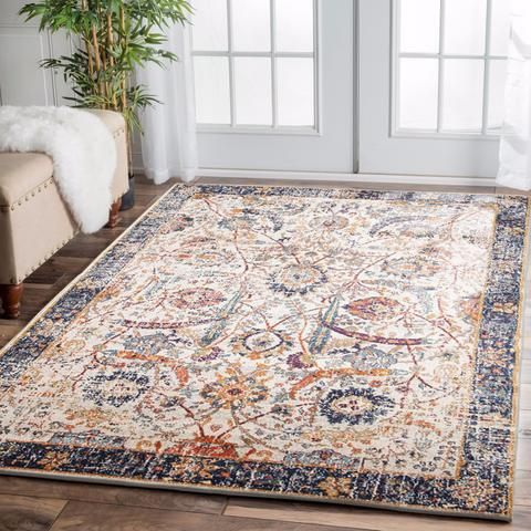 Peacock Ivory Transitional Rug Rugs Transitional Rugs