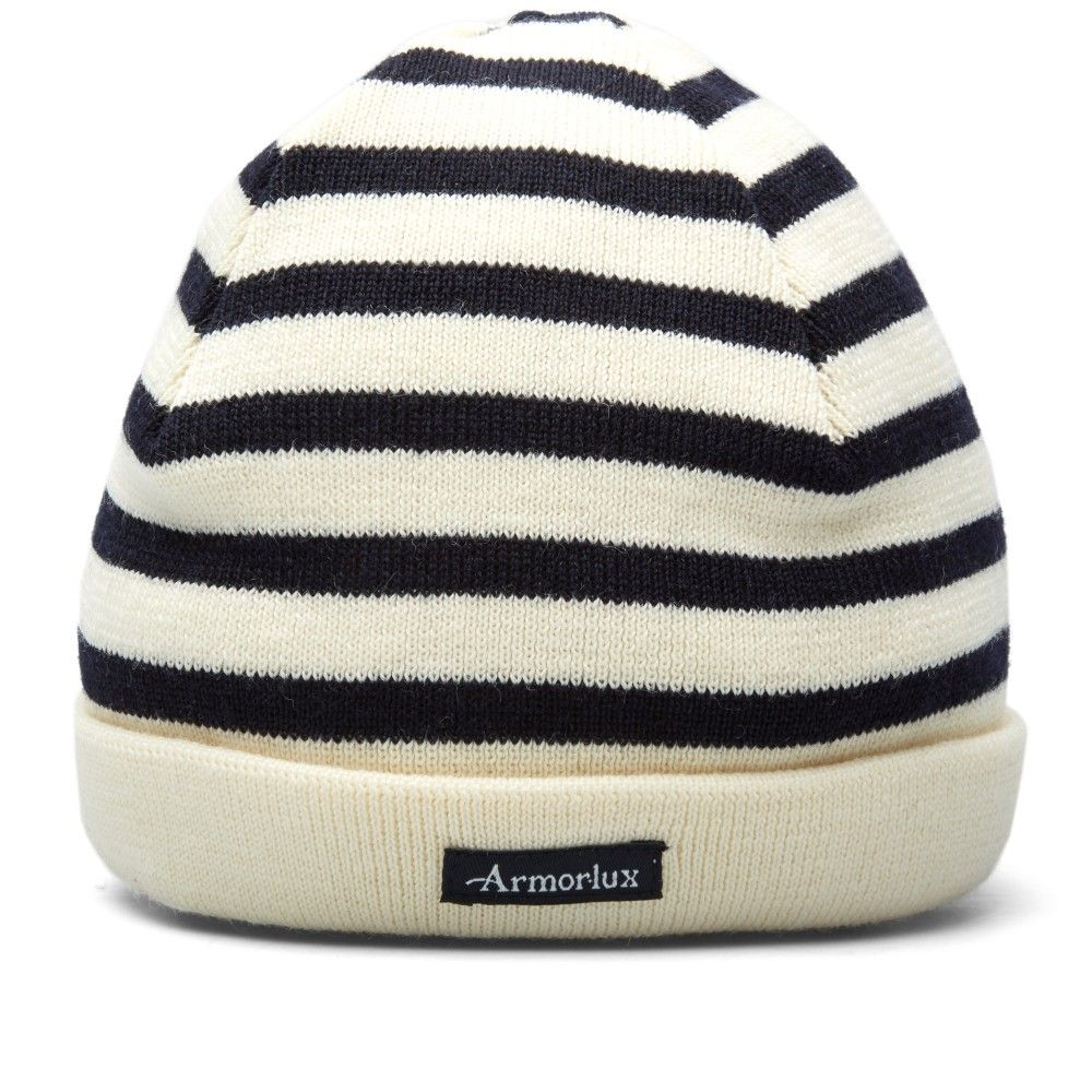 0f665968 Armor-Lux Striped Mariner Beanie (Natural & Navy) | Things to Wear ...