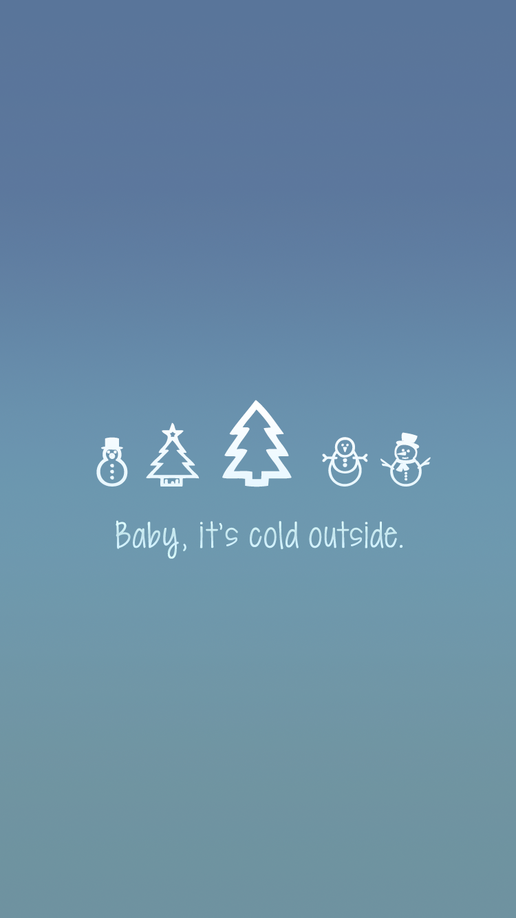 Baby, it's cold outside free iPhone lock screen