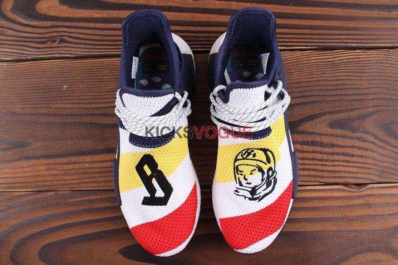 9592a3bedbbb Billionaire Boys Club x Pharrell x adidas NMD Hu Trail BBC White Scarlet