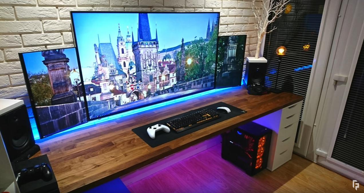 TechTM's Set Up - Part List: Hisense 4k 58″ TV Dell u2414h Monitors