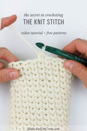 Video How To Crochet The Knit Stitch Waistcoat Stitch Pinterest