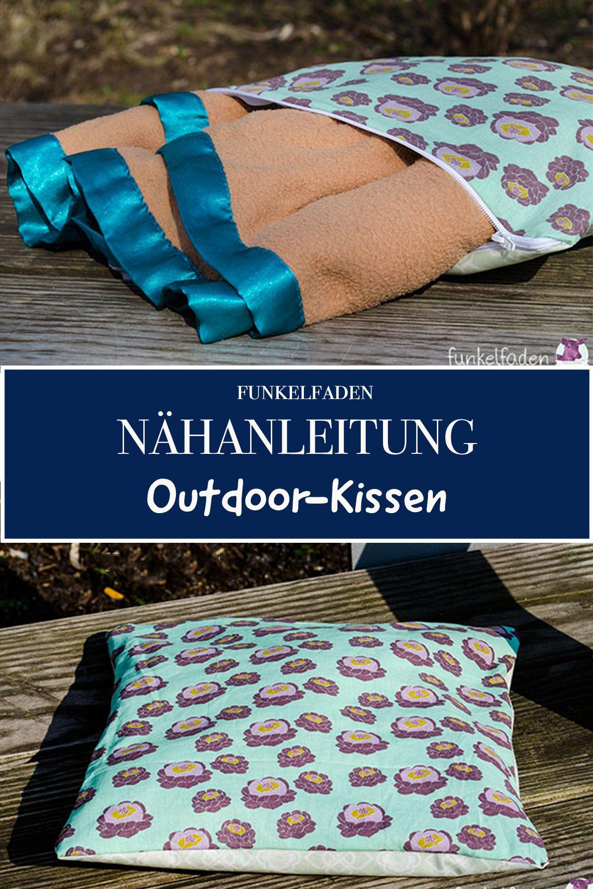 Diy Nahanleitung Outdoor Kissen Mit Reissverschluss Decke Nahen