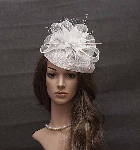 White stunning fascinator hat for your special occasions ... 7422dbad65c