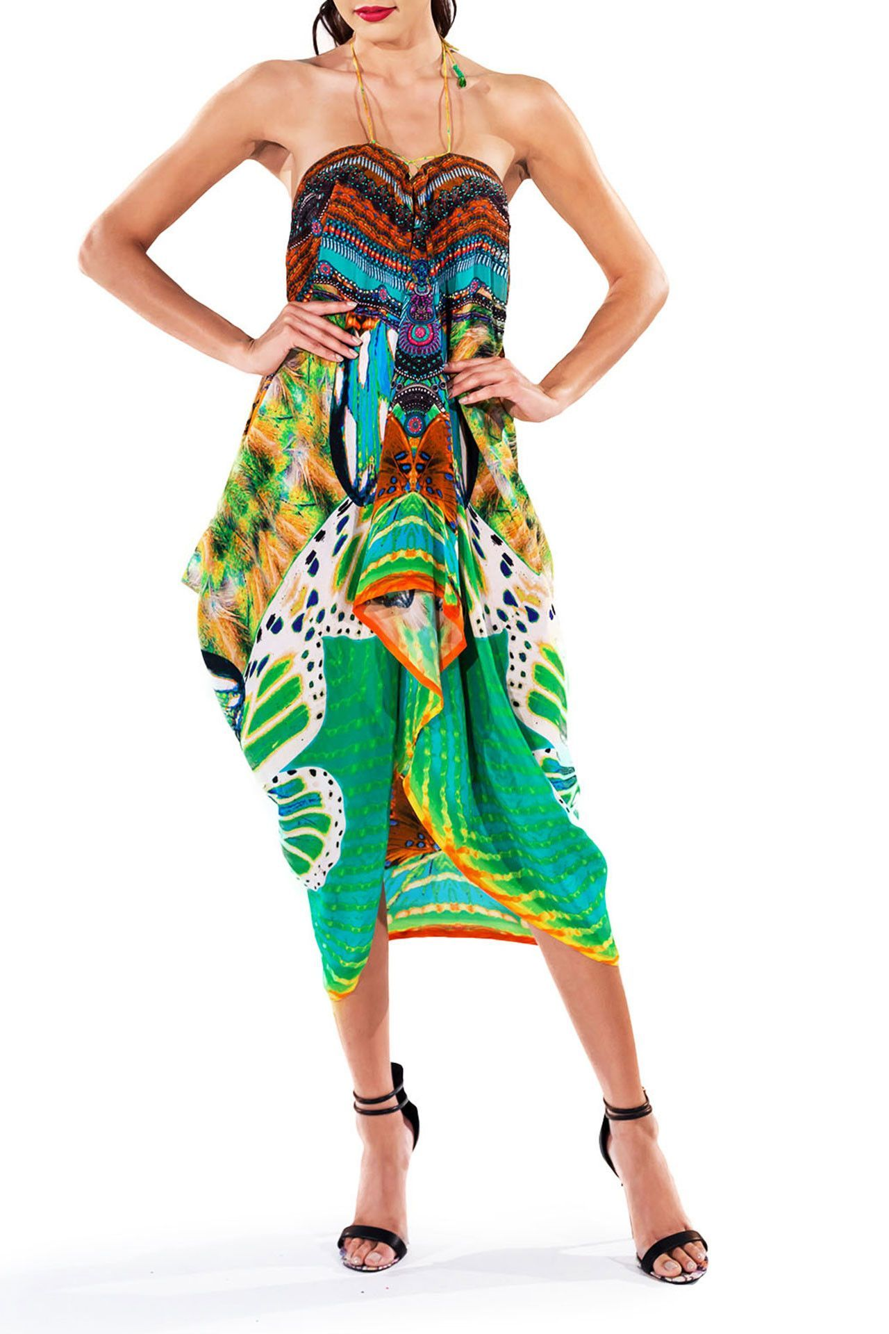 Shahida parides designer resort kaftan luxury beach tunic beach