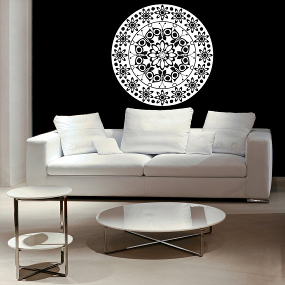 Butterfly Daisy Daisies Medallion Decal By Vinylwallaccents